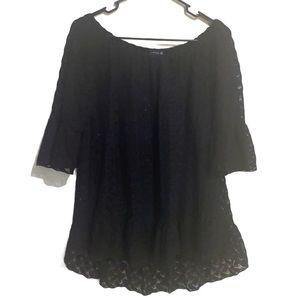 CIRANA • lace hi-lo • flare sleeves -off shoulder